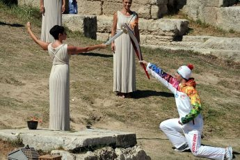 Lighting the Olympic Games Flame