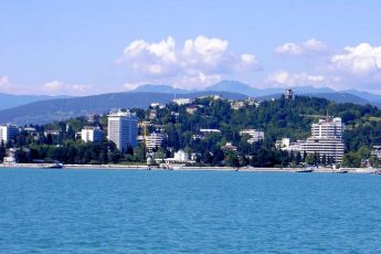 View on Sochi from Black Sea